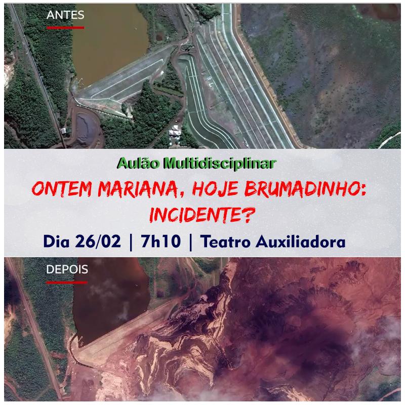 1º aulão do ano abordará os desastres ambientais no Brasil