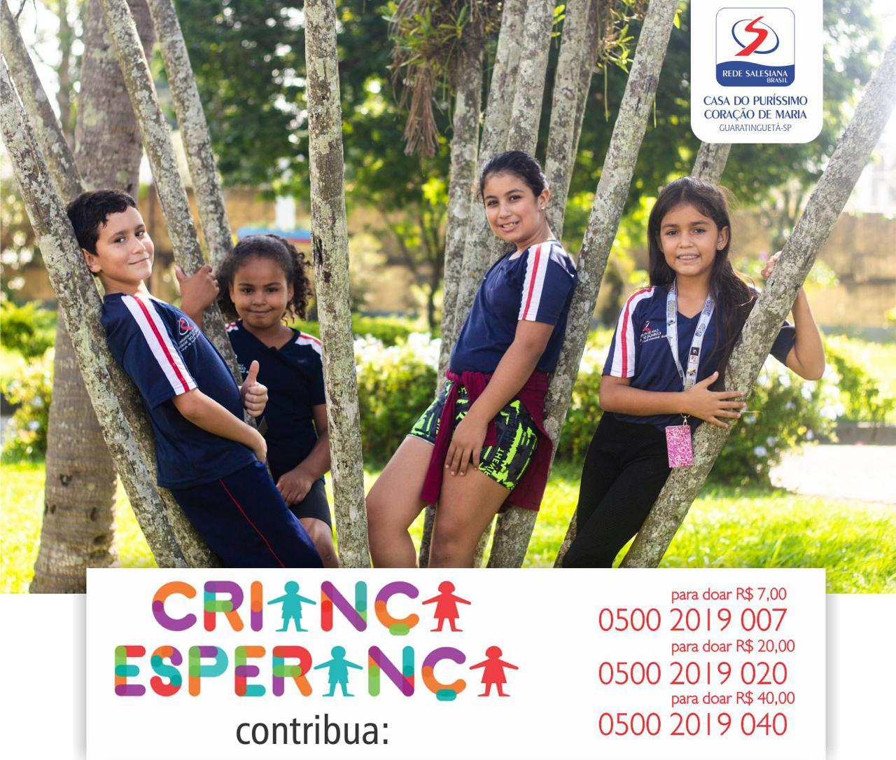Projeto Salesiano será um dos contemplados com recursos do Criança Esperança 2019