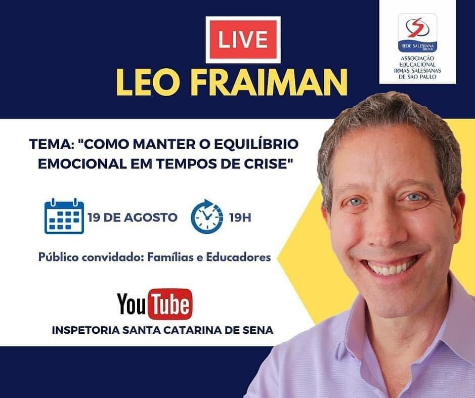 Live com Léo Fraiman - Como manter o equilíbrio emocional em tempos de crise