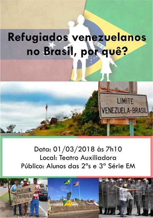 Vamos falar dos refugiados venezuelanos no Brasil?